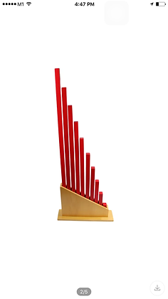 Montessori Red Rods with Stand