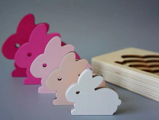 Rabbit Layered Wooden Puzzle