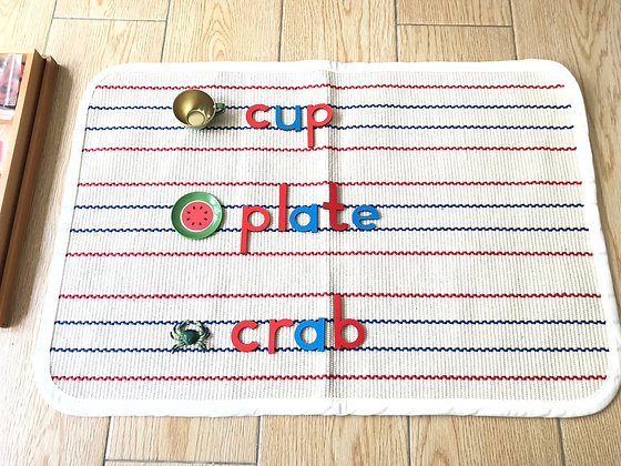 Montessori Moveable Alphabets Mat