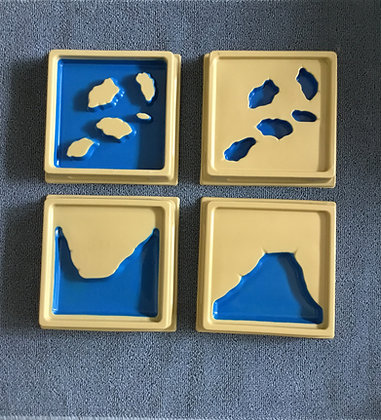 Montessori Land & Water form Trays (set of 10)