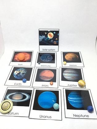 Montessori Solar System introduction set