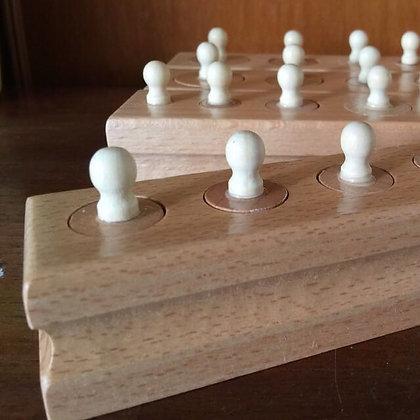 Montessori Mini Knobbed Cylinder Blocks