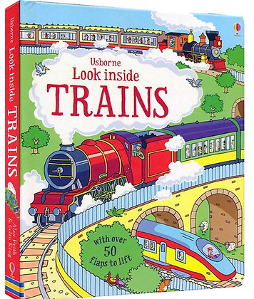 Usborne: Look Inside Trains