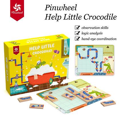 Pinwheel Help Little Crocodile
