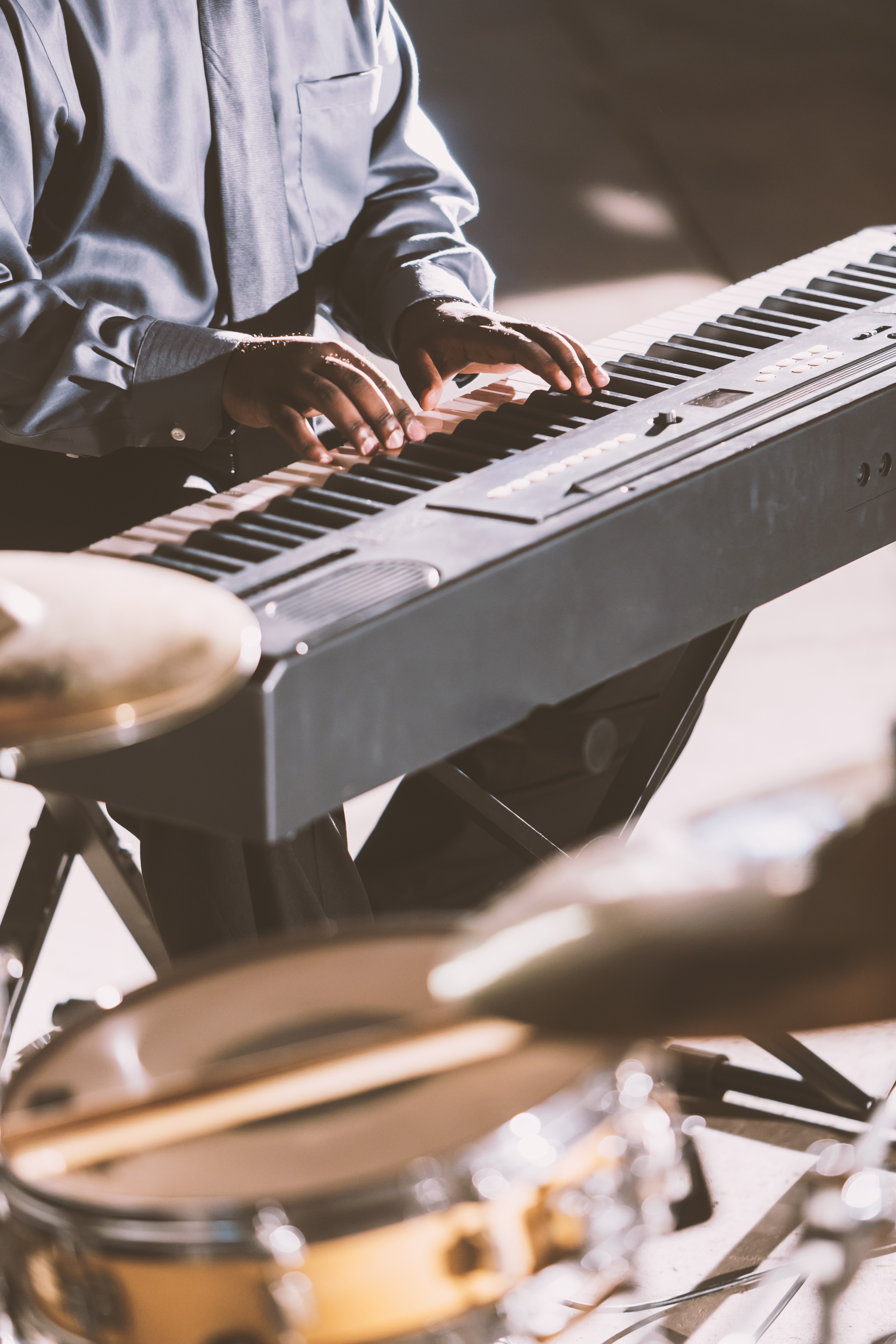 Musician Playing Keyboard