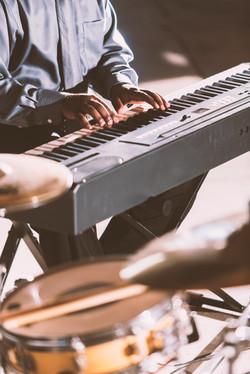 Musician Playing Keyboard