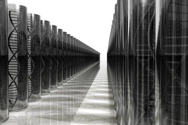 Teste de DNA: ilustração base de dados de DNA