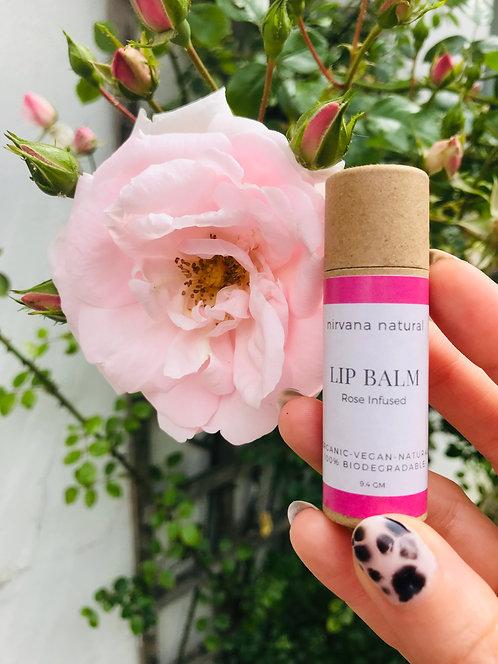 Rose Infused Zero Waste Lip Balm | Nirvana Natural