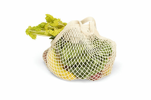 Organic Short Handled String Bag | Natural