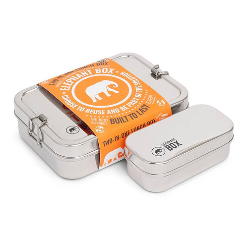 Stainless Steel Two-in-One Lunchbox | Elephant Box