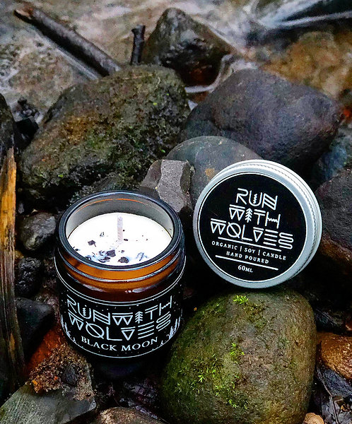 Black Moon Natural Soy Candle | Run With Wolves, 60ml