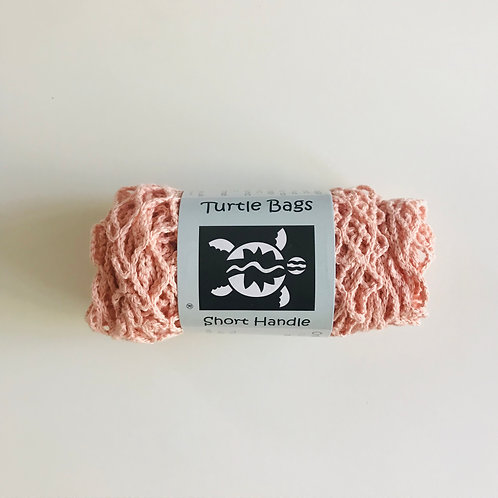 Organic Short Handled String Bag | Blush