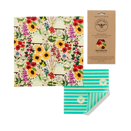 Small Kitchen Pack - Floral | Beeswax Wraps