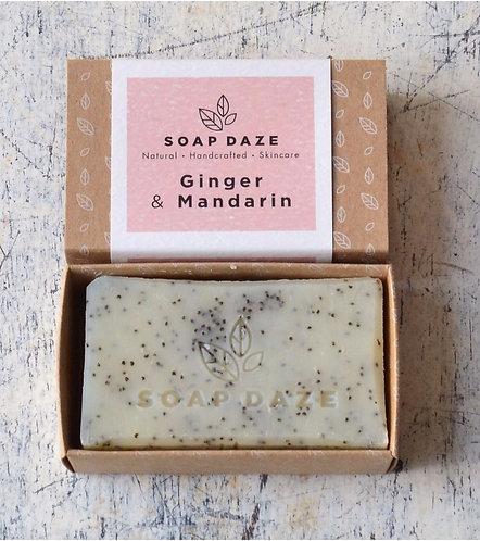 Handcrafted Ginger and Mandarin Soap | Soap Daze, 112g