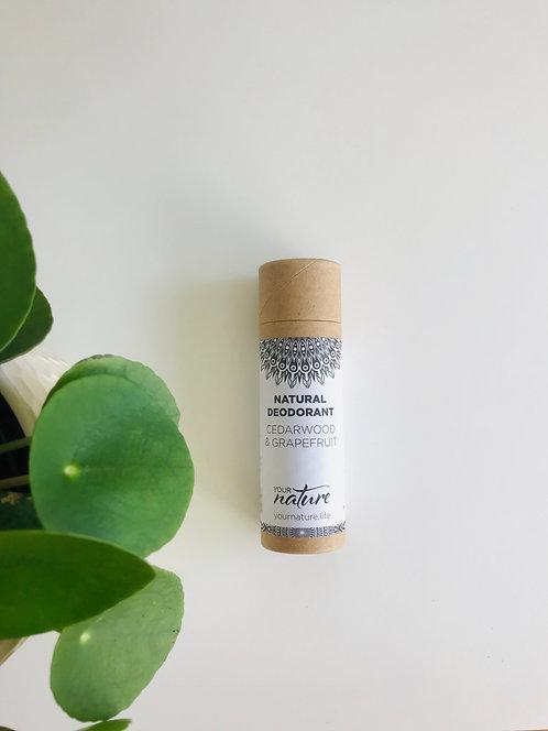 Cedarwood and Grapefruit Natural Deodorant | Your Nature, 70g