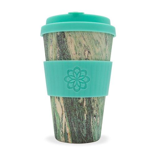 Ecoffee Cup | Marmo Verde - Stein und Holz 400ml