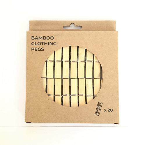 Bamboo Pegs | Zero Waste Club