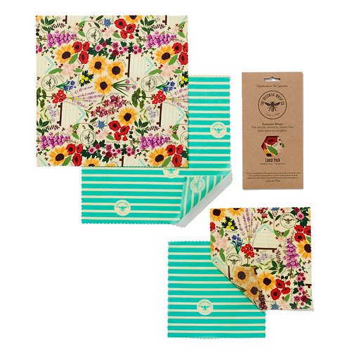 Lunch Pack - Floral | Beeswax Wraps