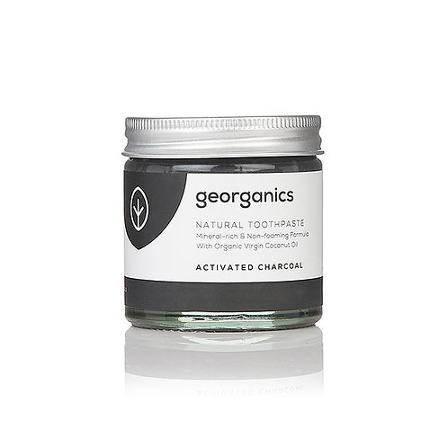 Georganics Mineral-Rich Natural Toothpaste | Activated Charcoal, 60ml