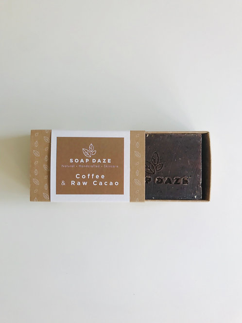 Handcrafted Coffee and Raw Cacao Soap | Soap Daze, 112g