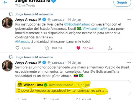 Governador do Amazonas agradece ajuda à Venezuela