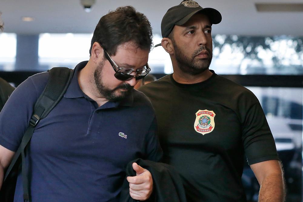 O ex-secretário de Obras do Rio, Alexandre Pinto, preso pela Polícia Federal (Foto: Tânia Rêgo/Agência Brasil)