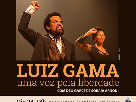 Peça sobre o abolicionista Luiz Gama é encenada na Alerj