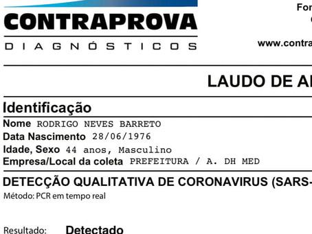Teste confirma que Rodrigo está com coronavírus