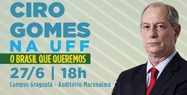 Palestra de Ciro Gomes na UFF