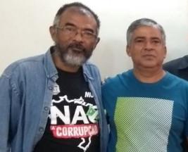 Os sindicalistas Ary Giroto e Sérgio Araújo lutam contra a privatização da Cedae