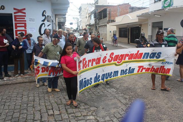 Protesto dos trabalhadores expropriados do Porto do Açu