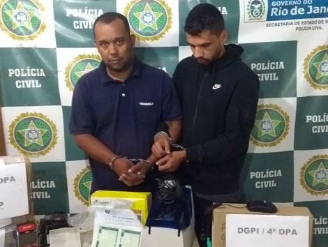 Willian Oliveira da Silva e João Gregório Silva dos Reis foram presos em flagrante
