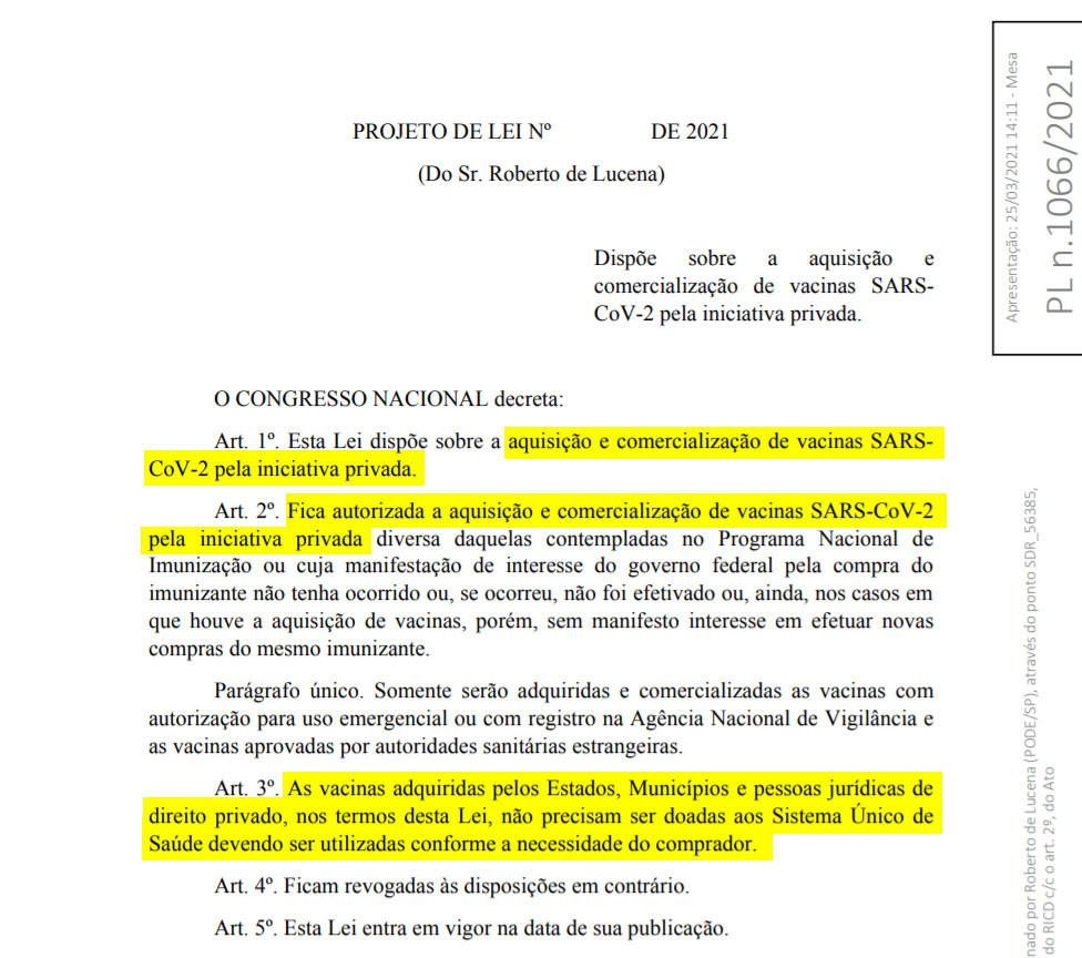 """Lucena apoiou Senah na aquisição de vacinas para o governo brasileiro a """"preço humanitário"""""""