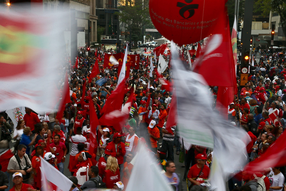 Ato contra as reformas da Previdência e trabalhista na Av Paulista . Foto: Paulo Pinto/AGPT/FotosPúblicas
