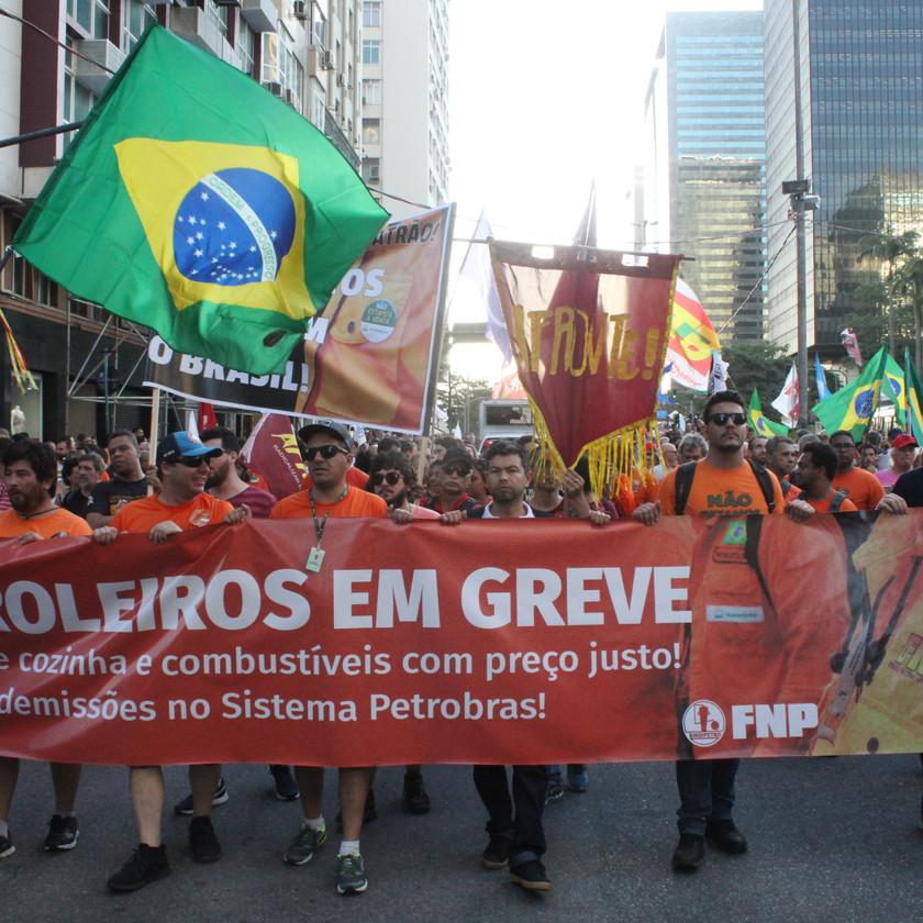 Manifestantes tomaram as ruas