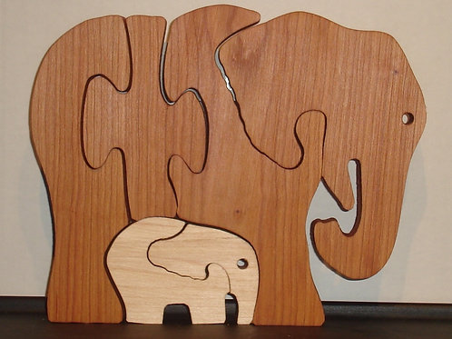 Elephant/Baby (two wood)