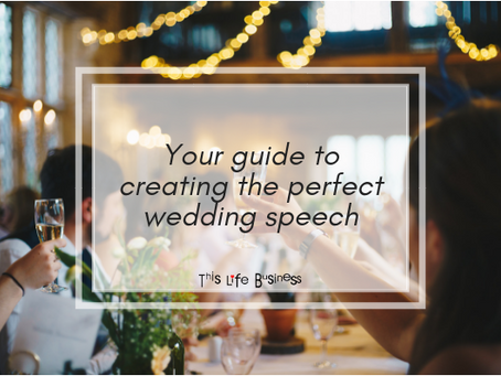 Your guide to creating the perfect wedding speech
