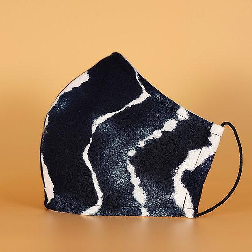 Blue Tie Dye - 3 Layer Cotton Face Mask