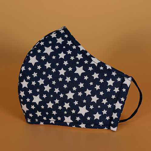 Stars - 3 Layer Cotton Face Mask