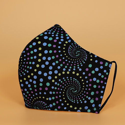 Black w/ Spiral Dots