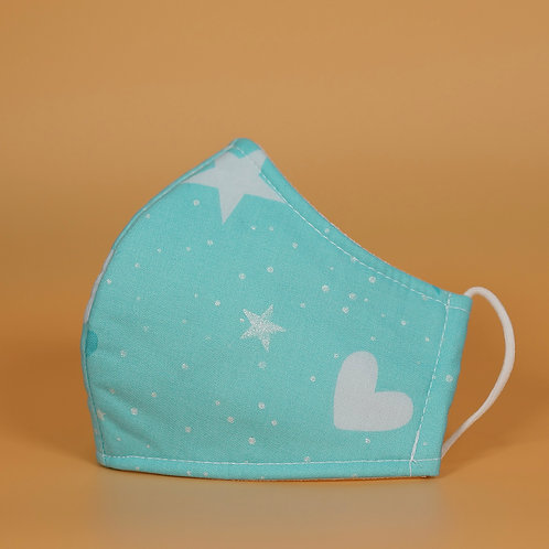 Kids' Mask - Blue w Mini Stars