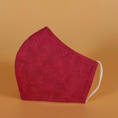Pink w/ Subtle Circles - 3 Layer Cotton Face Mask