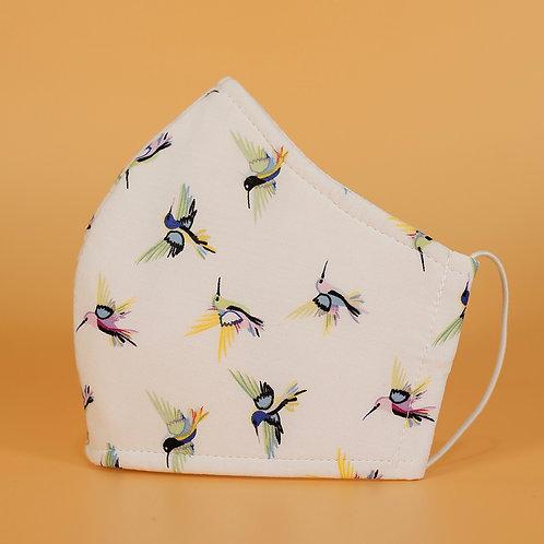White w/ Hummingbirds