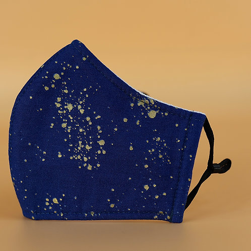 Gold Splatter on Blue