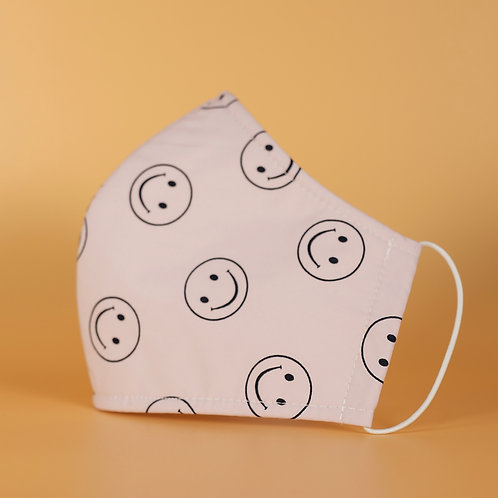 Happy Face - 3 Layer Cotton Face Mask