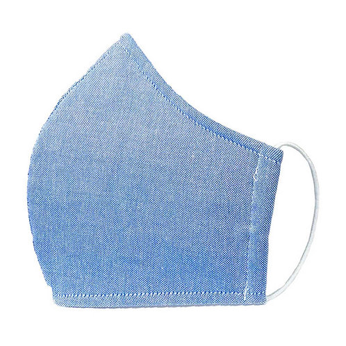 Solid Blue - 3 Layer Cotton Face Mask