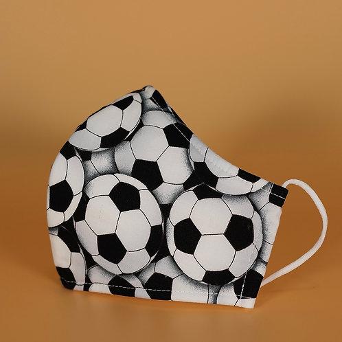 Soccer Balls - 3 Layer Cotton Face Mask