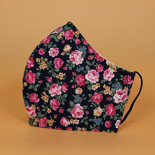 Black w/  Pink Flower