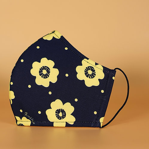 Black w Yellow Flowers