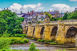 HDR of a Historic old stone Bridge at Co